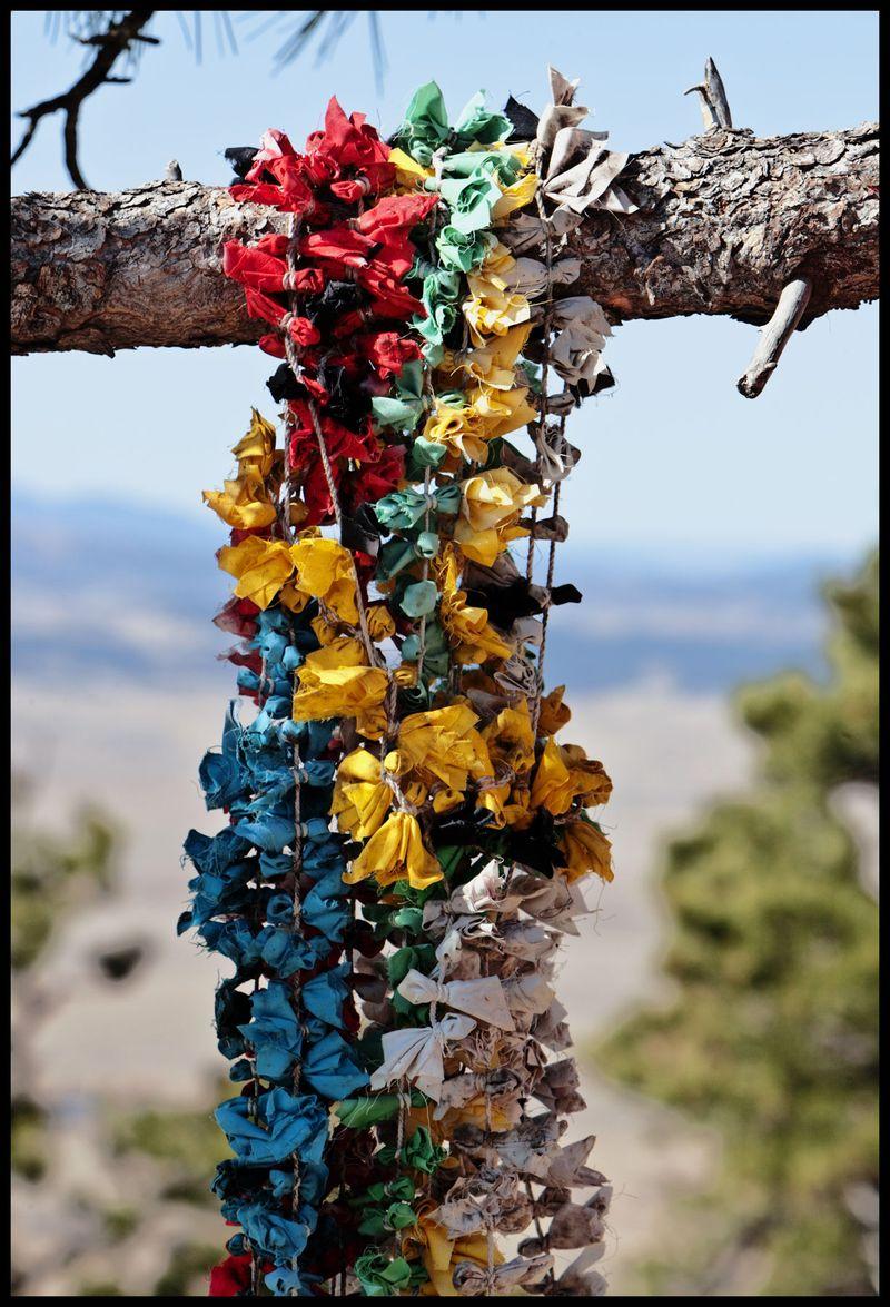 Bear Butte Prayer Bundles, South Dakota