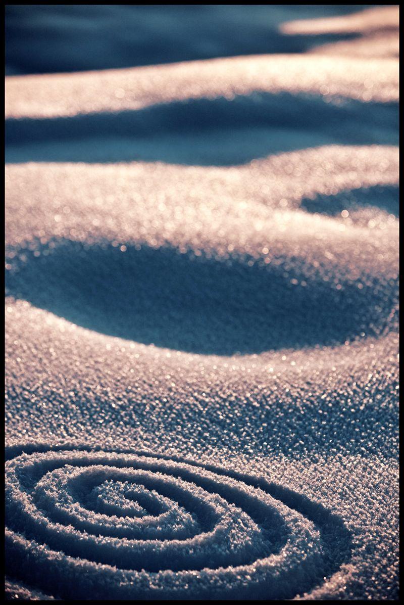 Arches Snow Spiral  Utah