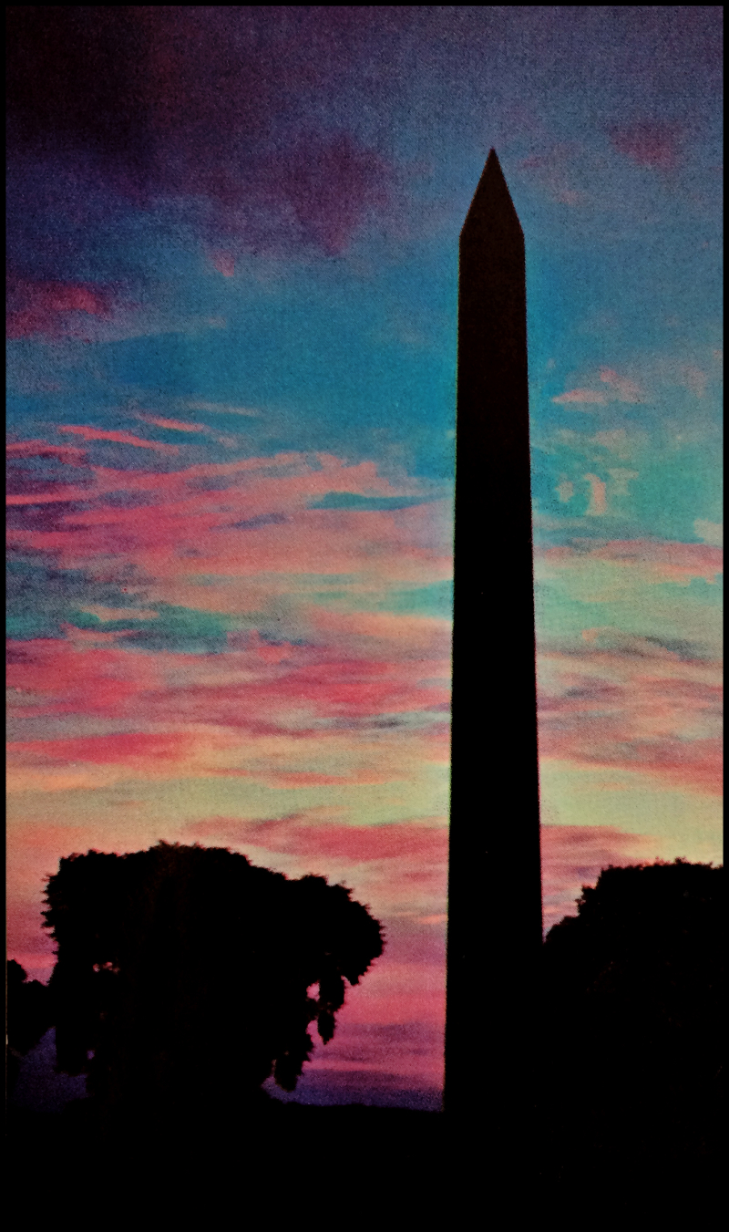 1960's-Washington-Monument-Postcard-#3