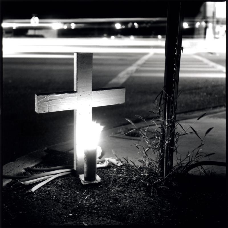 A Roadside Cross On Grant Road  Arizona